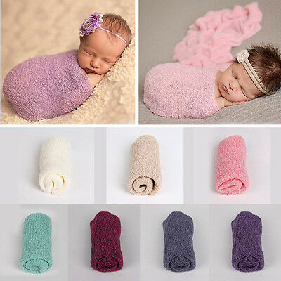 Baby Newborn Infant Crochet Knit Mohair Wrap Cloth Photography Photo Prop NB