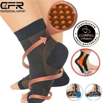 Men Women Copper Ankle Compression Socks Foot Support Stockings Pain Relief