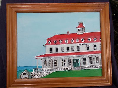"""SPRING HOUSE HOTEL"" at Block Island- Oil  Jane Wilcox Hively 11""x14""  2007"