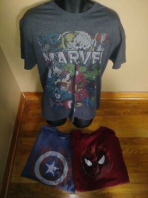 Lot of THREE mens size XL, MARVEL t-shirts