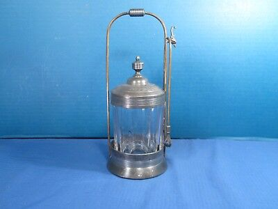 "Antique Pickle Castor - Victorian - Clear Glass Jar - 9 1/2"" Tall"