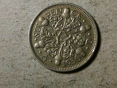 Great Britain 6 pence sixpence 1936 George V Wedding coin gift silver L2