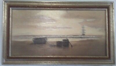 G.S. HILL, Original Oil Painting, Signed Seascape, Maui 1978, 9 x 18