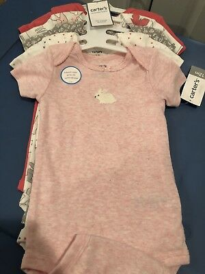 Carter's 5 Pack Bodysuits Girls - 12 Month PINK