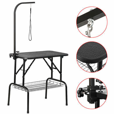 Large Pet Dog Cat Grooming Trimming Table Portable Foldable Steel Adjustable Arm