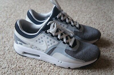 ea687fd3a8 Nike Air Max Zero Essential Black White Wolf Gray Oreo Running Shoes Sz 10.5