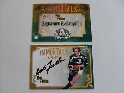 2008 select nrl Bob Fulton immortal signature redemption trading card 59