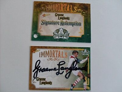 2008 select nrl immortal signature redempton trading card Graeme Langlands