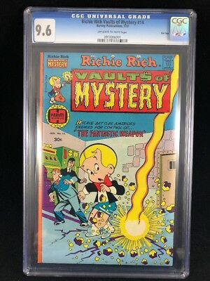 Richie Rich Vaults of Mystery #14 CGC 9.6 High Grade Harvey File Copy