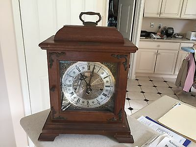 Hamilton mahogany bracket clock from estate as found Westminster chimes as is