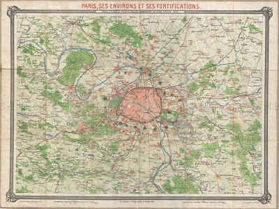 116976 GEOGRAPHY MAP ILLUSTRATED ANTIQUE ERHARD PARIS Decor WALL PRINT POSTER AU