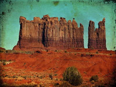 117968 Landscape Composition Monument Valley Cliff Rock Wall Print Poster Au