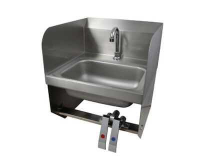 "BK Resources 14""Wx10""Dx5"" Wall Mount Hand Sink w/ Splashguards"