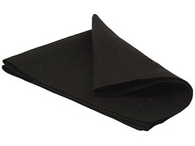 "Intedge NCM1818-BLACK 1 Dz 18""x18"" Hemmed Edge Polyester Cloth Napkins - Black"