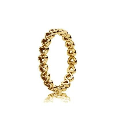 1e8bb3af3 New Genuine PANDORA Linked Love Ring 14K Gold Vermeil 190980 14K Gold Plated