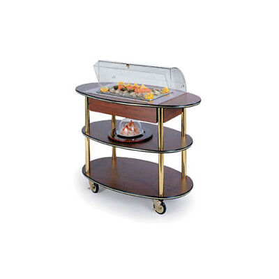 """Lakeside 36306 23""""Dx44""""Wx44-1/4""""H Rounded Oval Dome Display Seafood Cart"""