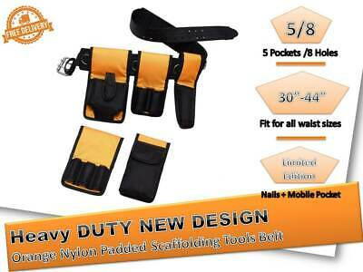 Hi Viz Tools Belt Scaffold Naylon Padded 8in1- Tripple + Double Spanner