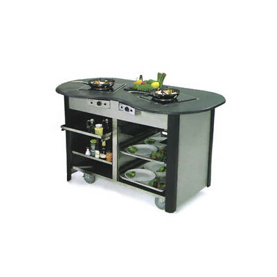 "Lakeside 63070 60""Wx32""Dx35-3/4""H Creation Station Mobile Cooking Cart"