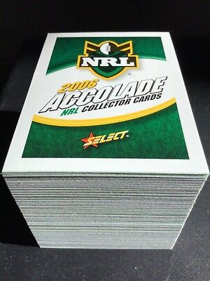 2006  Select  Nrl  Rugby League  Accolade Series  Full Set  152 Cards  ( Mint )