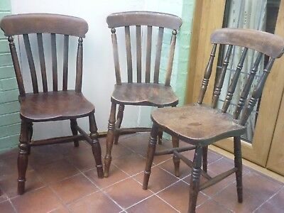 Four ANTIQUE / VINTAGE WINDSOR type CHAIRS
