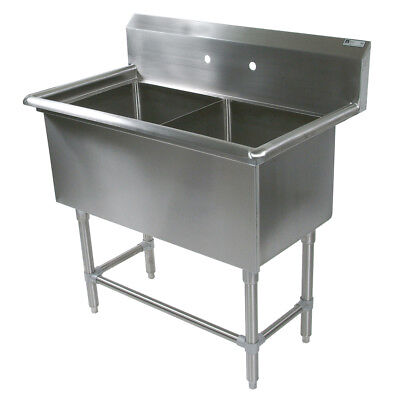 """John Boos 2PB16184 2 Compartment 16"""" x 18"""" Stainless Steel Pro-Bowl Sink"""