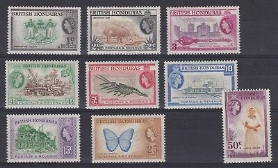 British Honduras SG144-152 short set QE2 1953 MLH