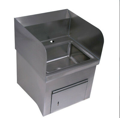 "BK Resources BKHS-D-1410-SKTS 13-3/4""Wx10""D Wall Mount Hand Sink Only"