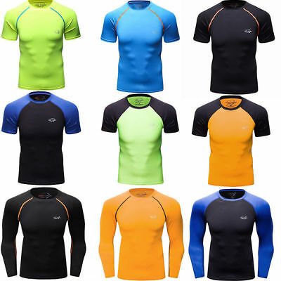 4445a04f2df7 MEN S COMPRESSION TOPS Athletic Running Training Gym T-shirts Dri fit Base  Layer -  7.19