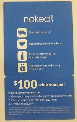 $100 Naked Wines Gift unused Voucher end of June