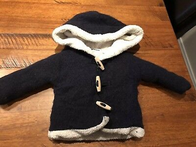 country road baby boy 3mths wool/alpaca lined Jacket-very warm