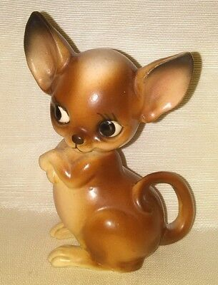 "Vintage Lovely Chihuahua Dog Figurine 4"" tall"