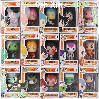 Funko Pop Dragon Ball Z Vinyl Goku Vegeta Trunks Gotenks Hit Beerus With Box