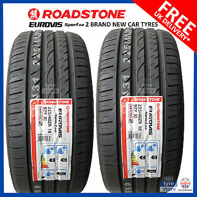 2X New 225 40 18 ROADSTONE SP04 92W XL 225/40R18 2254018 *A WET GRIP* MID RANGE