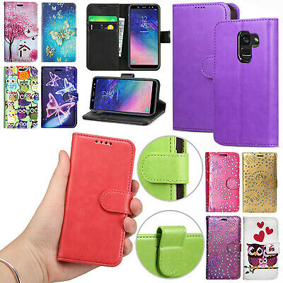 For Samsung Galaxy J3 J4 J6 J8 2018 Stylish Leather Wallet Flip Stand Case Cover