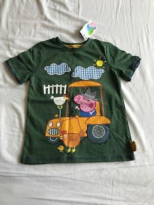 George Pig T-shirt Age 4-5 Years New With Tags Peppa Pig