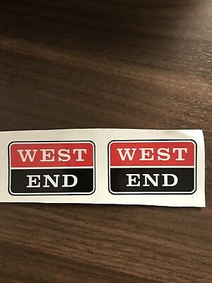 West End Draught Beer Sticker Decal