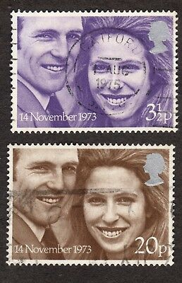 Great Britain: Royal Wedding Princess Anne Mark Phillips; complete fine used set