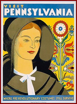 Visit Pennsylvania Amish Country United States Travel Advertisement Art Poster