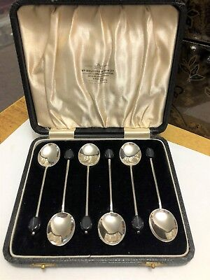 Sterling Silver Coffee Spoons - William Suckling - Birmingham - 1936