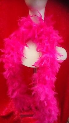 Bright Pink Feather Boa Flapper Fancy Dress 1920s Burlesque Costume Accessory