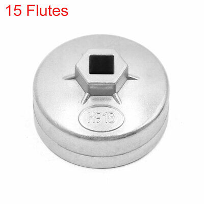 15 Flutes 74mm Inner Dia Metal Oil Filter Wrench Cap Tool Remover for Car Auto