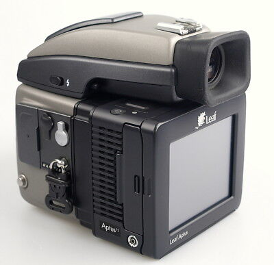 Hasselblad H1 body 8622 clicks and Leaf Aptus 75 digital back.