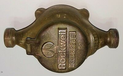 "Vintage Brass Water Meter 5/8 "" Steampunk"