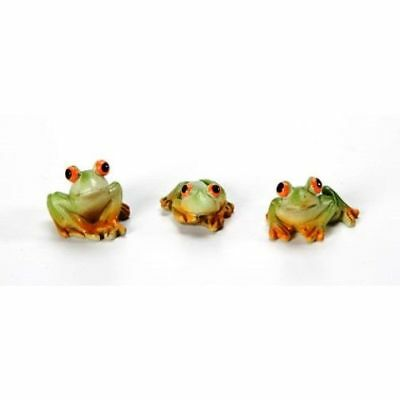 Miniature Fairy Garden Frogs - Set of 3 - Buy 3 Save $5