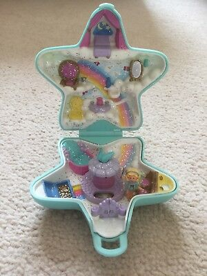 Vintage Polly Pocket Fairy Wishing World blue star compact figures complete