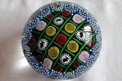 Superb Mike Hunter Paperweight - Rabbits & Roses, 1 of 1