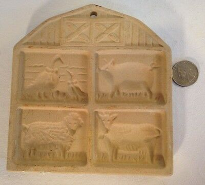 The Pampered Chef~Farmyard Friends~Clay Cookie Mold/decorations~Usa~1994