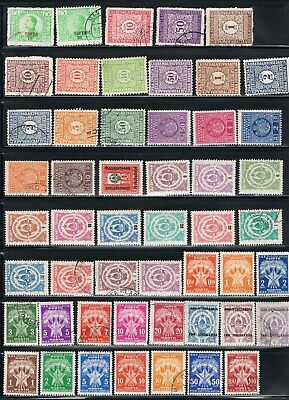 Yugoslavian postage due Stamps - 1921-52 - J1//J74 - MLH/used