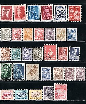 Yugoslavian Stamps - 1951 - Scotts: 331//389 - MH/used