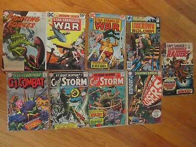 Dc Our Fighting Forces Star Spangled War Stories Misc 9 Silver Age War Comic Lot
